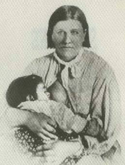 Picture of Cynthia Ann Parker and Daughter, Prairie Flower