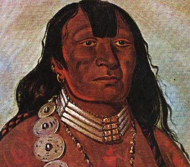 Painting of Little Mountain by George Catlin in 1834