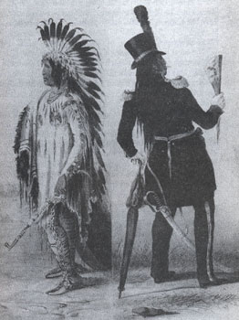 "Picture of Indian ""Going to Washington - Returning to His Home"""