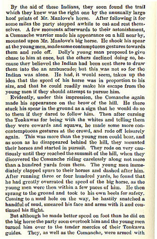 Bartholomew Manlove story from the book Indian Depredations in Texas by J. W. Wilbarger