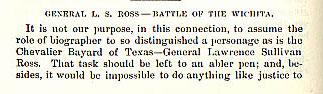 General L. S. Ross - Battle of the Wichita