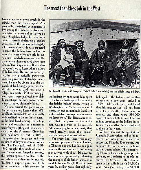 Picture of William Bent and Arapho Chief Little Raven