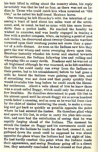 W.P. Brashear story from the book Indian Depredations in Texas by J. W. Wilbarger