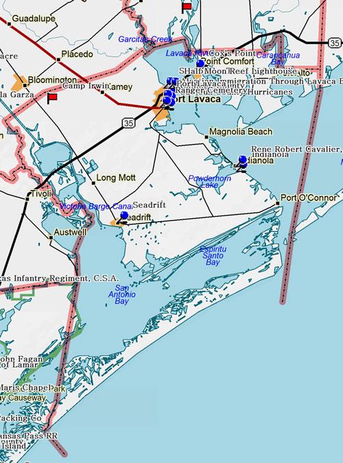 Map of Calhoun County