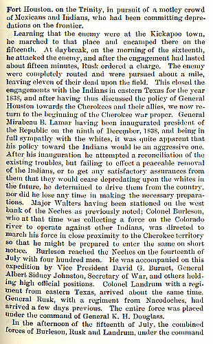 Cherokee War story from the book Indian Depredations in Texas by J. W. Wilbarger
