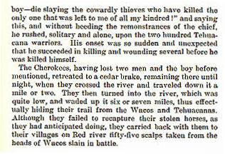Desperate Battle Between Cherokees and Wacos