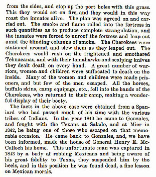 Cherokees Get Even story from the book Indian Depredations in Texas by J. W. Wilbarger