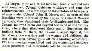 Colonel Coleman story from the book Indian Depredations in Texas by J. W. Wilbarger