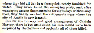 Captain John Harvey story from the book Indian Depredations in Texas by J. W. Wilbarger