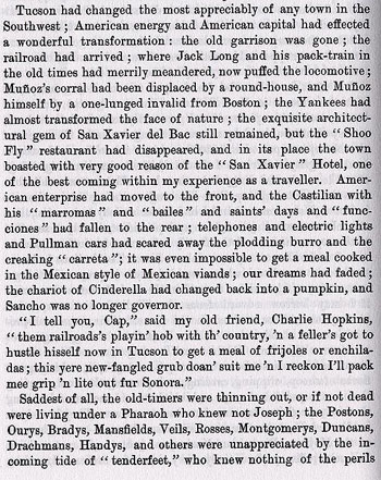 An 1882 description of Tucson from the book On the Border with Crook