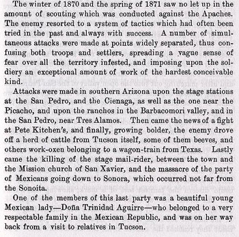 Fort Grant Story from the book On the Border with Crook