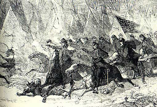 Picture of Custer's Charge at the Battle of the Washita
