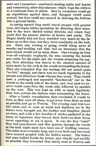 Murder of Daugherty - Flight of the Settlers story from the book Indian Depredations in Texas by J. W. Wilbarger