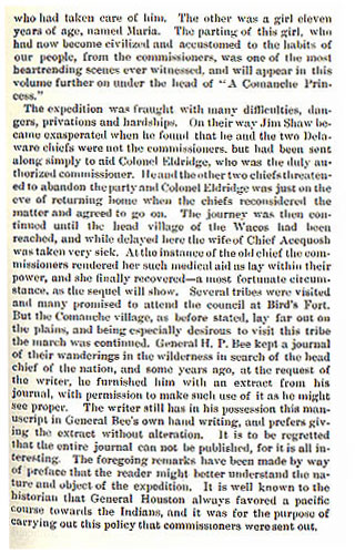 Colonel Eldridge's Hazardous Expedition to the Wild Tribes story from the book Indian Depredations in Texas by J. W. Wilbarger