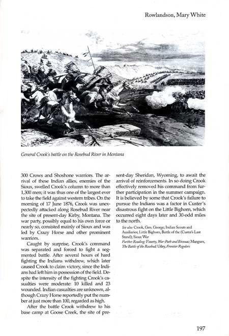 Story of the Rosebud Battle