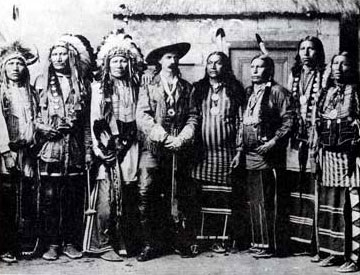 Picture of Buffalo Bill and His Indian Chiefs
