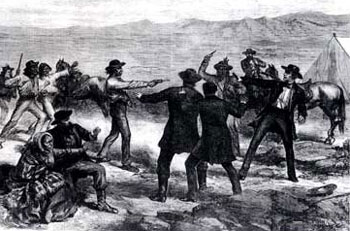 Picture of the Modoc's Murder of General Canby