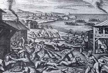 Picture of Jamestown Massacre