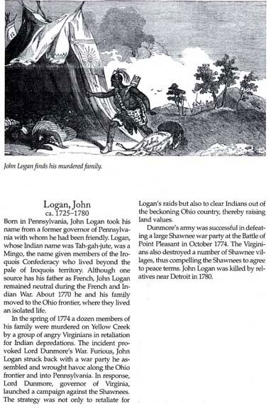 John Logan and Battle of Point Pleasant Story
