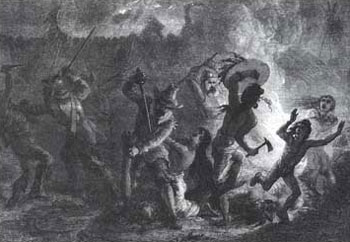 Picture of Massacre of the St. Francis Indians by Rogers's Rangers in the French and Indian War
