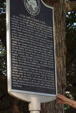 Picture of Geier and Schmid Farm Historical Marker