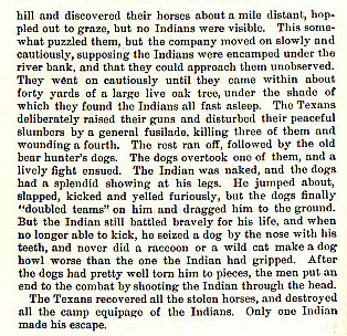 The Gonzales Horses story from the book Indian Depredations in Texas by J. W. Wilbarger