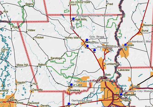Map of Hardin County