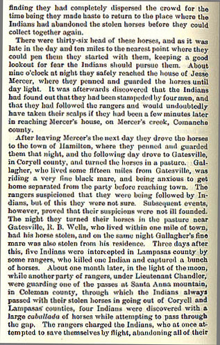 J.H. Chrisman story from the book Indian Depredations in Texas by J. W. Wilbarger