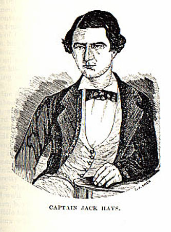Captain Jack Hays picture from the book Indian Depredations in Texas by J. W. Wilbarger