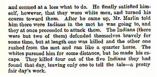 John Marlin story from the book Indian Depredations in Texas by J. W. Wilbarger