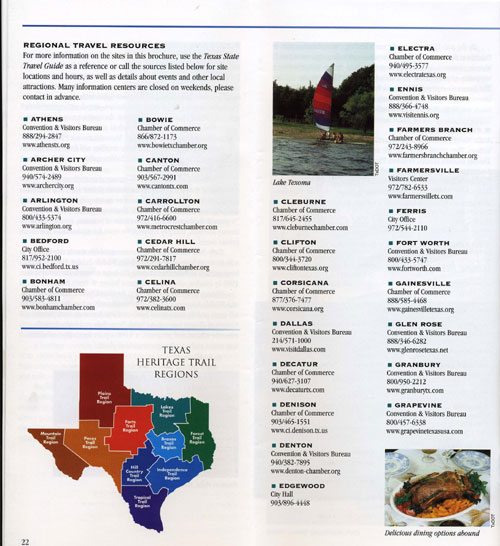 Texas Lakes Trail Brochure