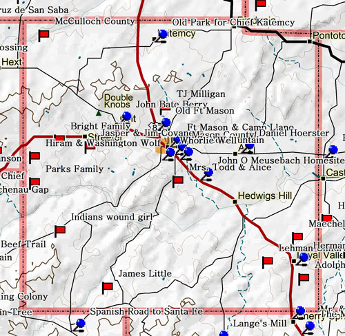 Map of Mason County Historic Sites