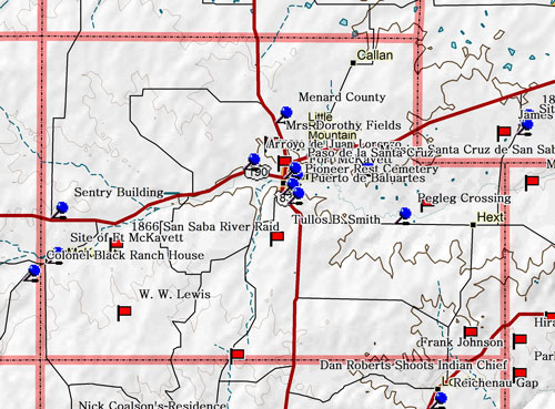 Map of Menard County Historic Sites