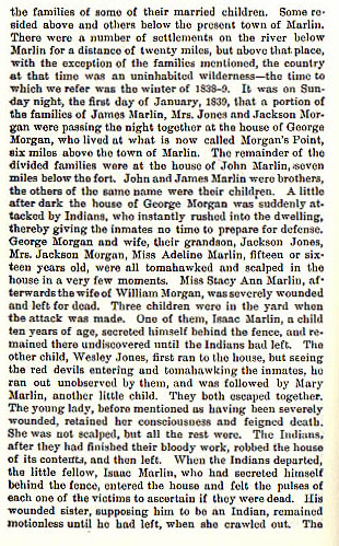 The Morgan Massacre and Bryant's Defeat story from the book Indian Depredations in Texas by J. W. Wilbarger
