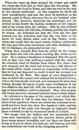 Mrs. Jones story from the book Indian Depredations in Texas by J. W. Wilbarger