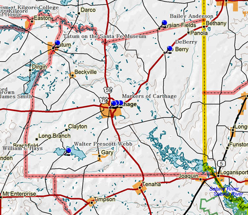 Map of Panola Countypanola county
