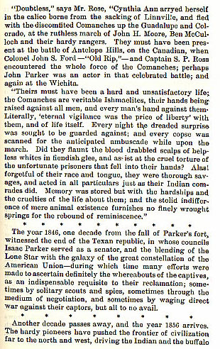 Parker Fort Massacre story from the book Indian Depredations in Texas by J. W. Wilbarger