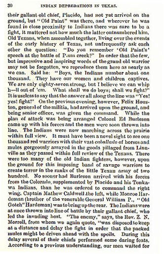 The Battle of Plum Creek story from the book Indian Depredations by J.W. Wilbarger