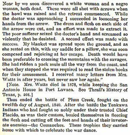 Battle of Plum Creek by Wilbarger