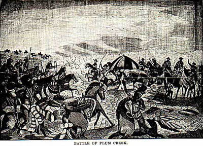 Battle of Plum Creek picture from Wilbarger