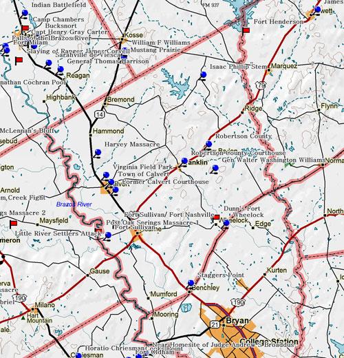 1856 TEXAS MAP TX Dimmitt Doffing Doolittle Double Oak Dripping Springs Dublin