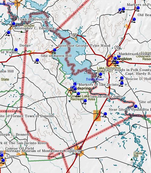 Map of San Jacinto County