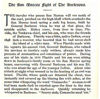 The San Marcos Fight of The Burlesons
