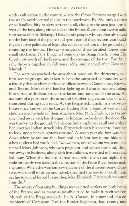 Elm Creek Raid Story from Frontier Defense in the Civil War by David Paul Smith