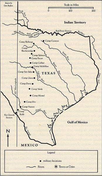 Posts of the Frontier Regiment, 1862-63