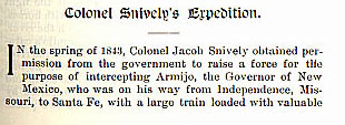 Colonel Snively's Expedition