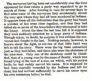 Ten Surveyors story from the book Indian Depredations in Texas by J. W. Wilbarger
