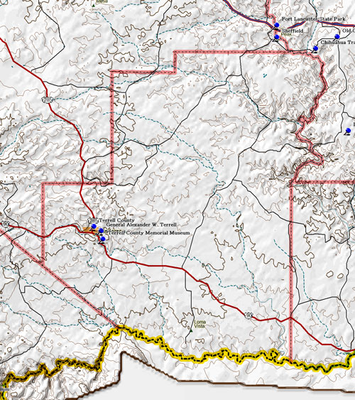 Map of Terrell County