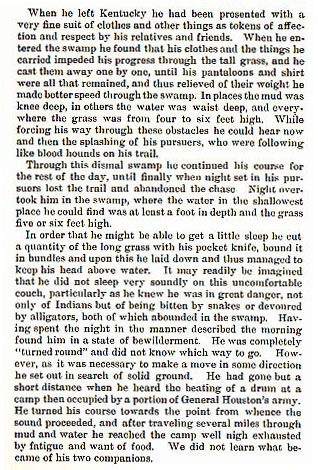 Thomas Norris story from the book Indian Depredations in Texas by J. W. Wilbarger