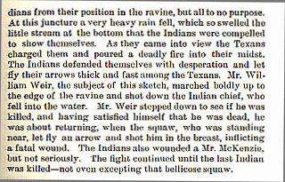 William Weir story from the book Indian Depredations in Texas by J. W. Wilbarger
